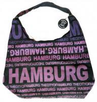 Schultertasche Hamburg schwarz - lila