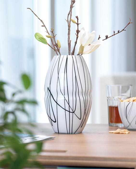 skandinavien flair vase events basic gro contrast online kaufen. Black Bedroom Furniture Sets. Home Design Ideas