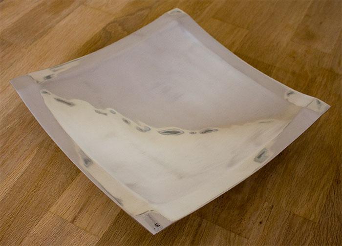 skandinavien flair aluminium platte quadratisch mit w lbung gro online kaufen. Black Bedroom Furniture Sets. Home Design Ideas